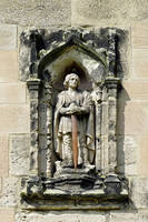 Figure of St Wystan above Porch Door (28112-RDA)