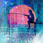 """The boy with a fishing rod"" by nirupam"
