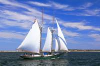 Schooner sailing on Cape Cod Bay