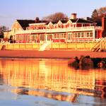 """Red Inn and Water Reflections, Provincetown MA"" by RoupenBaker"