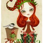 """""""Jollybelle Christmas Elf"""" by sandygrafik_arts"""