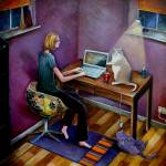 """Working from Home"" by vicstan"