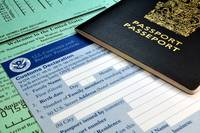 Arriving in the USA: Passport and USA Customs form