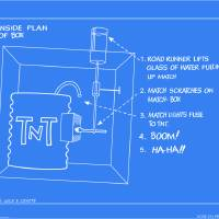 """ACME Wile E Coyote Blueprints TNT Trap"" by Dave Delisle"