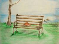 Bench with leave
