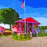 """Little Pink Boathouse"" by LauraD"