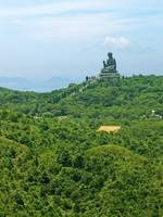 The Big Buddha from the Ngong Ping 360 Cable Car