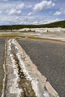 At the Upper Geyser Basin