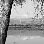"""Colorado Twin Peaks Reflections in Black and White"" by lightningman"
