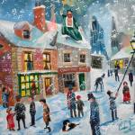 """A Christmas Carol Scrooge winter snow lamplight"" by GORDONBRUCEART"