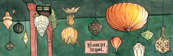 Kennedy School lamps