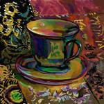 """Still Life with Teacup 1"" by clydesemler"