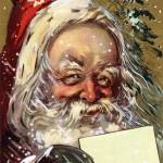 """Vintage Jolly Santa Claus"" by roycebair"