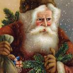 """Fatherly Santa Claus - Vintage illustration"" by roycebair"