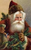 Fatherly Santa Claus - Vintage illustration