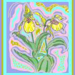 """Yellow Ladies Slipper"" by missnancysart4u"