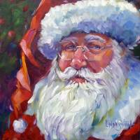 Colorful Santa, 2011 Art Prints & Posters by Linda Smith