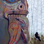 """Totem with Black Bird"" by SteveStAmour"