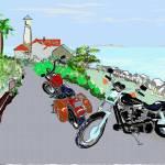 Bike Sketch by Kris Courtney