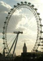 London Eye & Big Ben from Waterloo Bridge