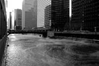 Steam Over the Chicago River