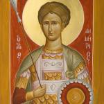 """St Demetrios the Myrrhstreamer"" by ikonographics"