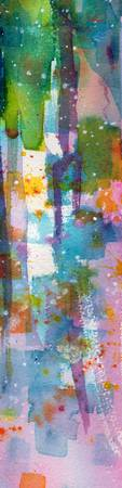 Lovely Dreams Tall and Skinny Abstract Watercolor