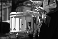 Drummer Boy in Black and White
