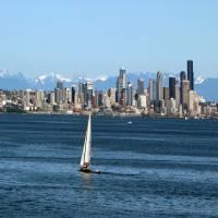 Summer Seattle Skyline by Patricia Schnepf