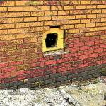 """""""Cat in a Hole in a Wall"""" by RebeccaKorpita"""