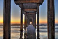 Scripps Pier (post sunset)