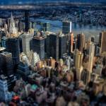 """East River View - New York In Miniature"" by tomgehrke"