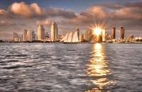 San Diego Skyline (Sunset Reflection)