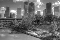 Houston Skyline Bayou View