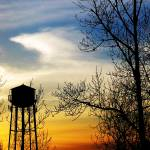 """Water Tower at Susnet (3-5 X 5) Jan 13-2008 042"" by barbsummering"
