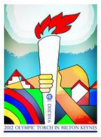 2012 Torch Relay in Milton Keynes poster art