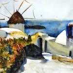 """""""Mykonos, Greek Island Landscape Painting"""" by schulmanart"""
