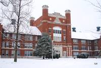 Administration Builidng in Snow
