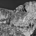"""Rocky cliff - black and white"" by hideakisakurai"