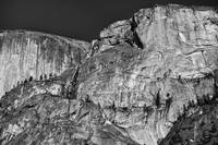 Rocky cliff - black and white
