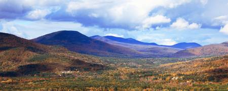 White Mountains panoramic vista, New Hampshire