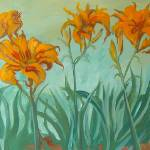 """orange day lilies"" by sandrafrancis"
