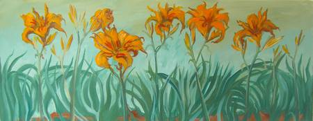 orange day lilies