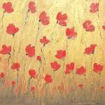 """rich red poppy field"" by sandrafrancis"