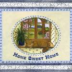 """Home Sweet Home ~ Lazy Ginger Cat"" by KarenMay"