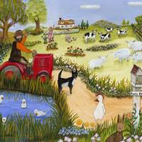 Funny Farm Art Prints & Posters by Karen May