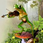 """Frog Fiddler"" by Unique_designs"