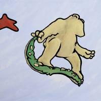 Cali Bear # 2 Art Prints & Posters by Michael Shurtz