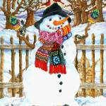 """Happy Snowman"" by wendyedelson"