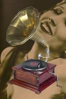 Vintage Gramophone Record Player and Bessie Love
